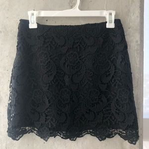 H&M black lace layer skirt - brand new